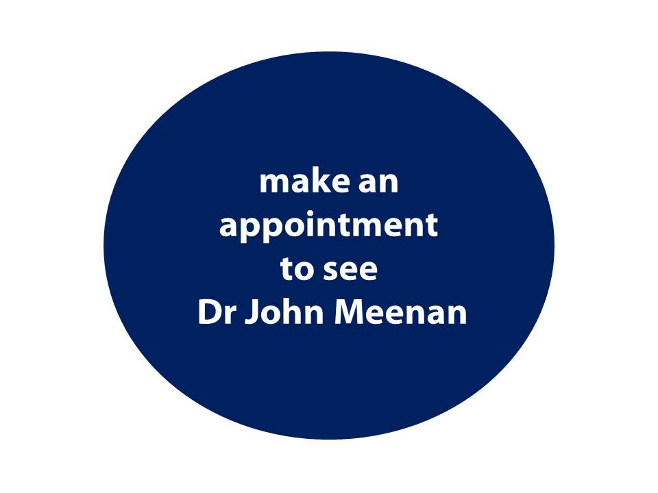 To make an appointment with Dr John Meenan, London Gastroenterologist